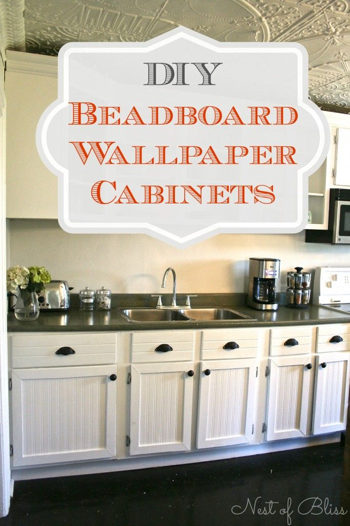 Wallpapering Cabinets