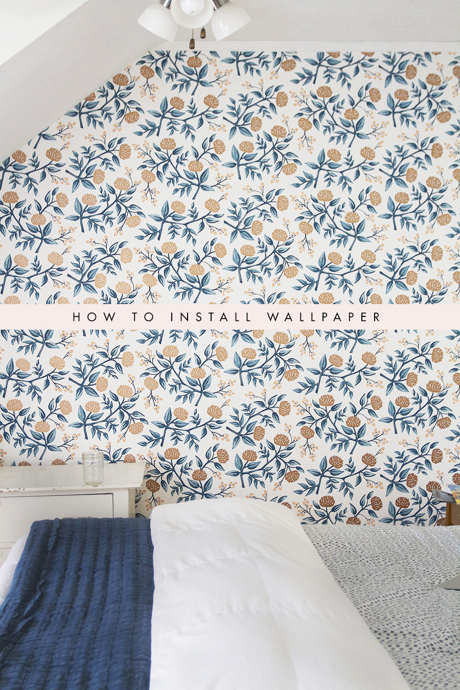Wallpapering Patterned Paper
