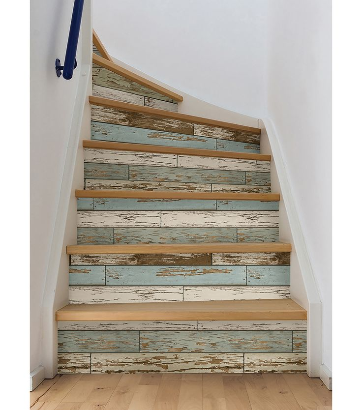 Wallpapering Stairs