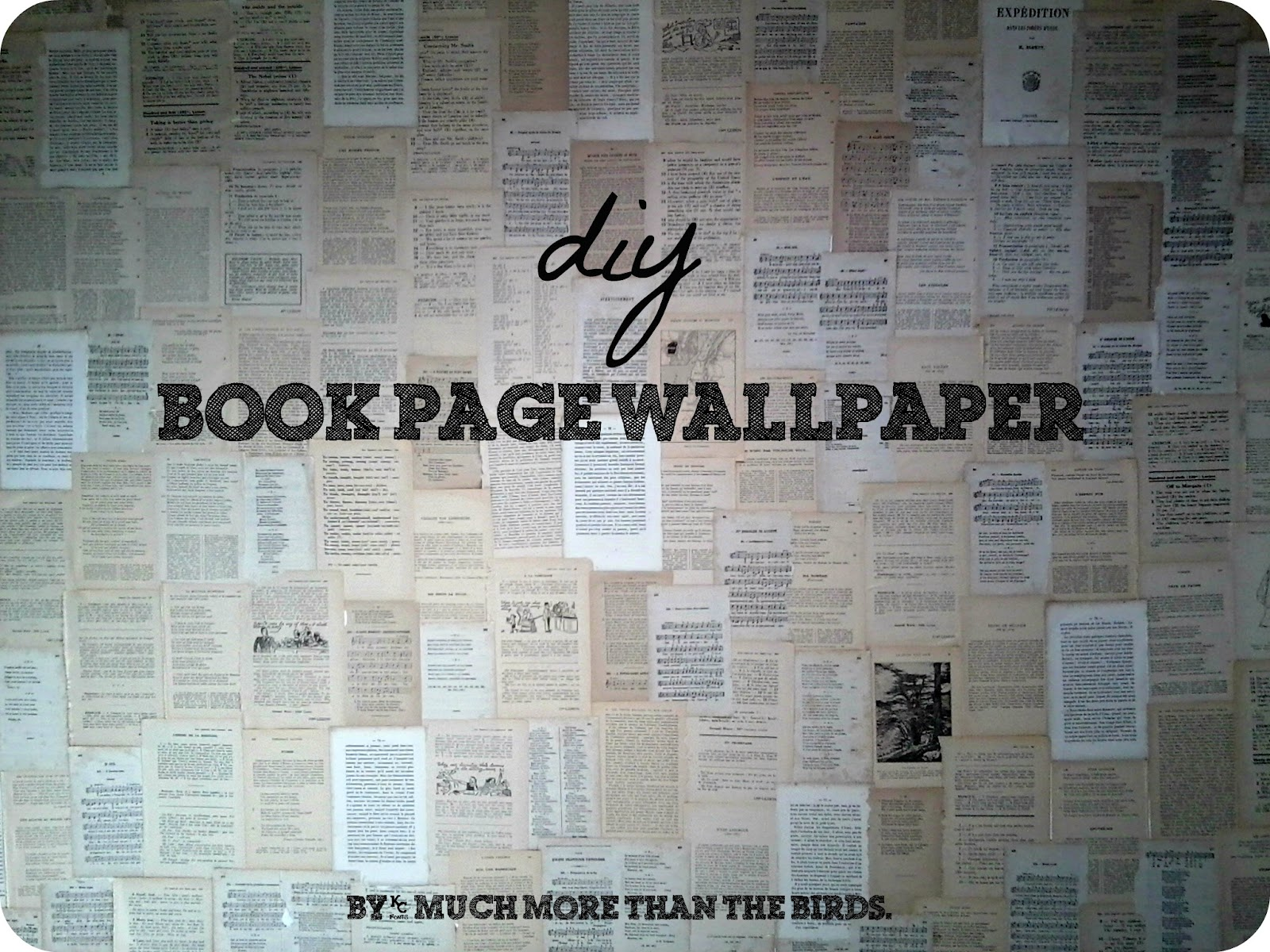 Wallpapering With Book Pages