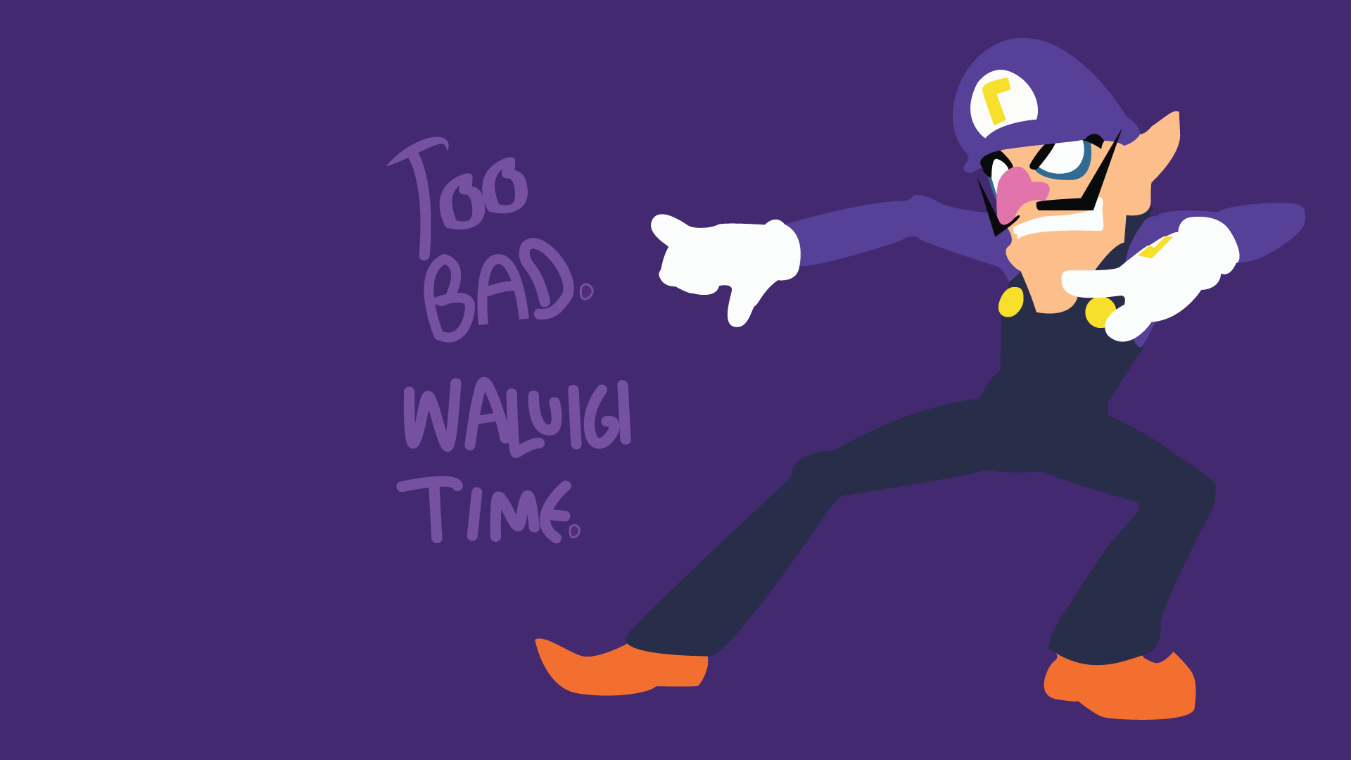 Waluigi Wallpaper