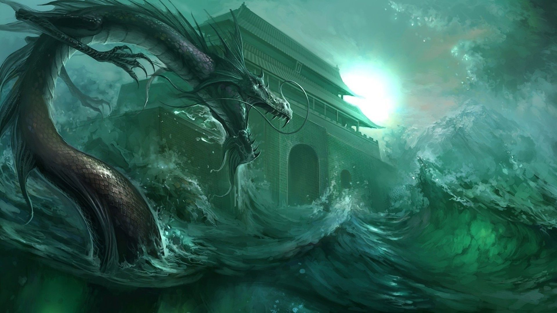 Water Dragon Wallpaper