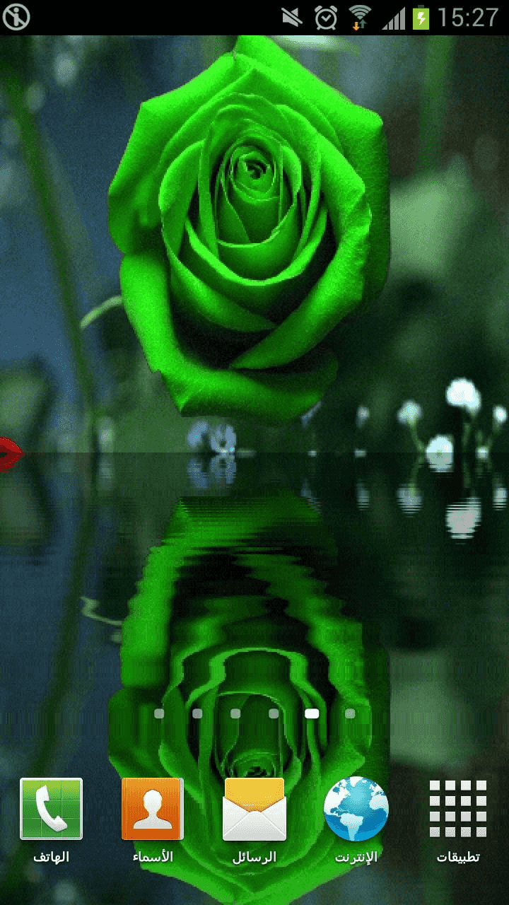 Water Rose Live Wallpaper