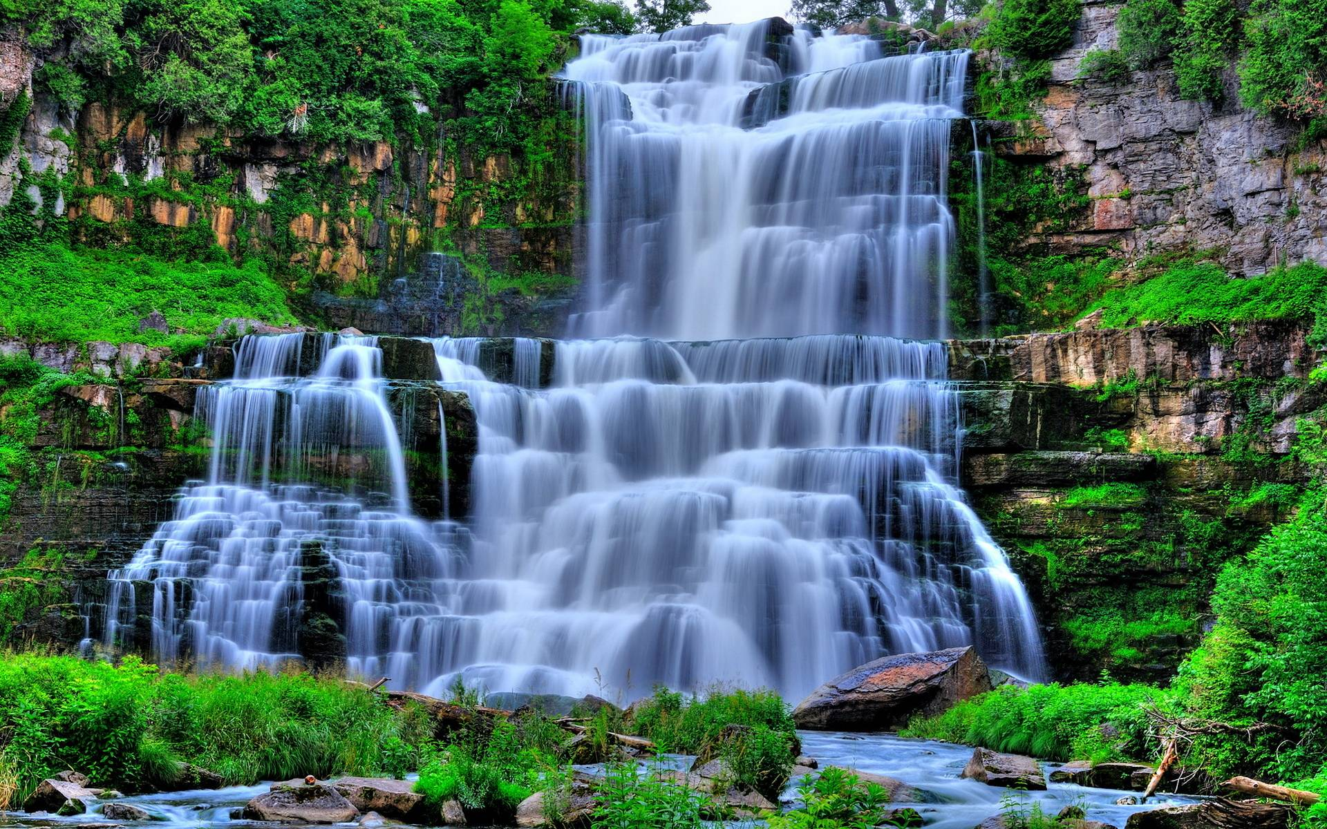 Waterfall Full HD Wallpaper