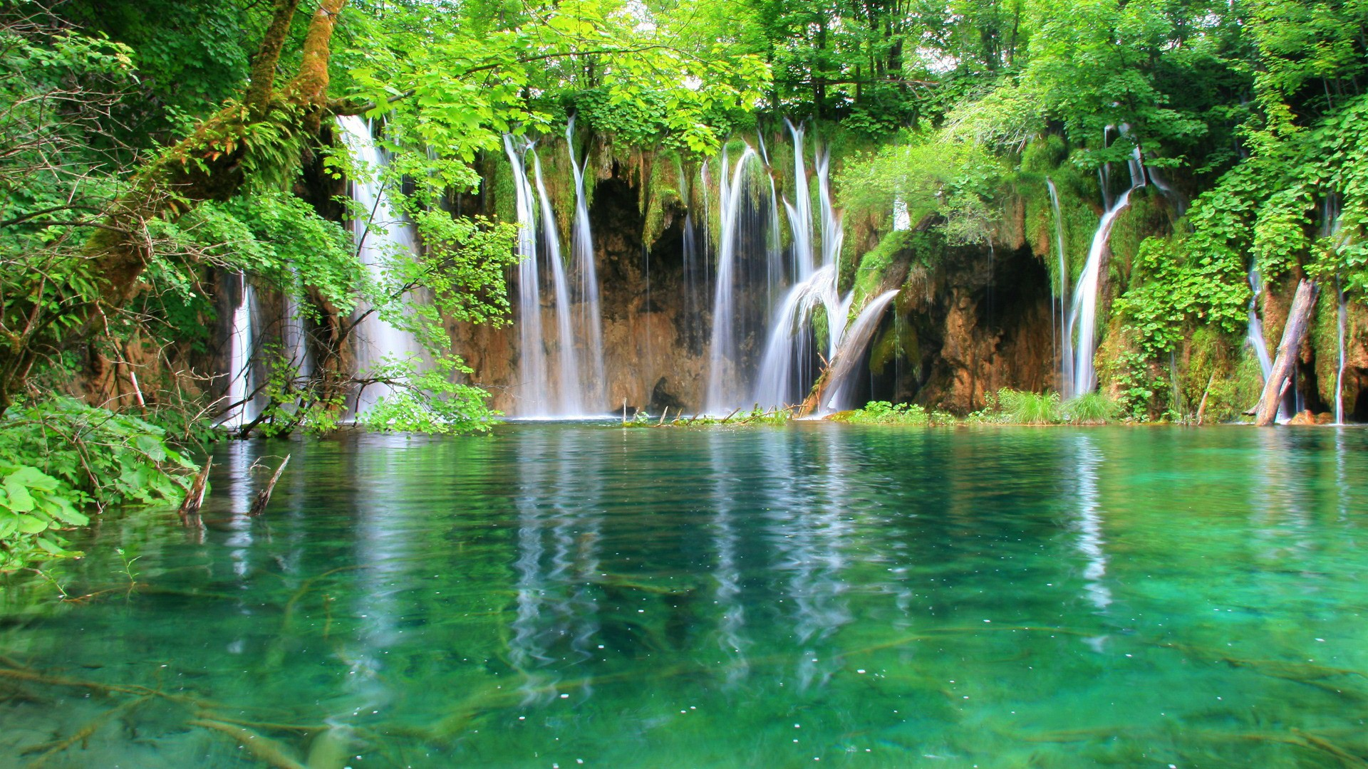 Waterfall Nature Wallpaper