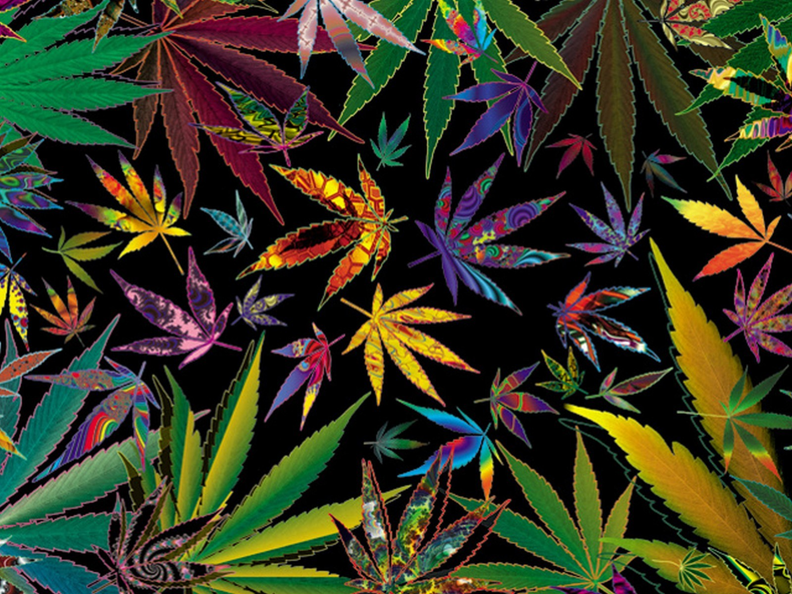 Weed Trippy Wallpaper