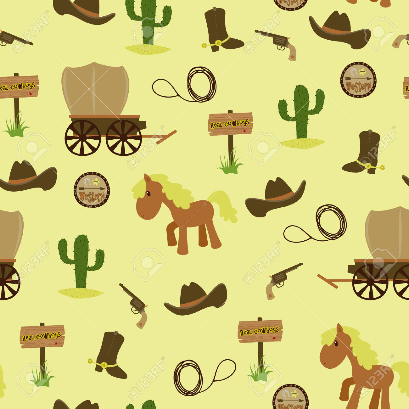 Western Themed Wallpaper