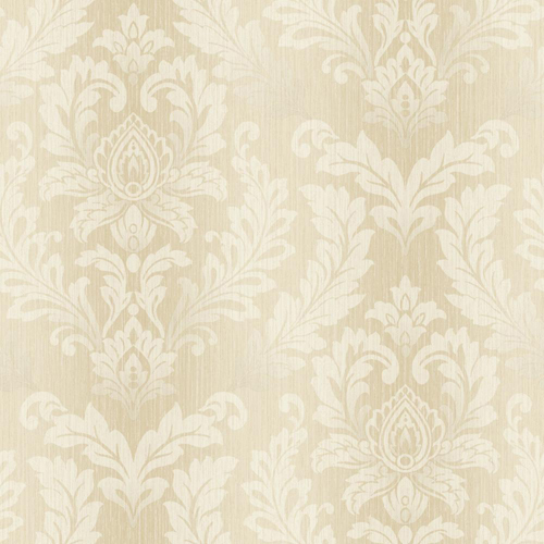 White And Gold Damask Wallpaper