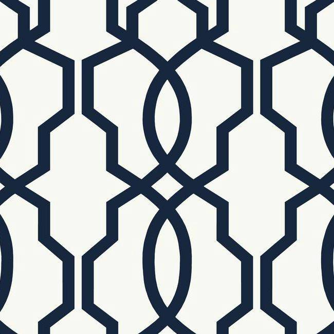 White And Navy Wallpaper