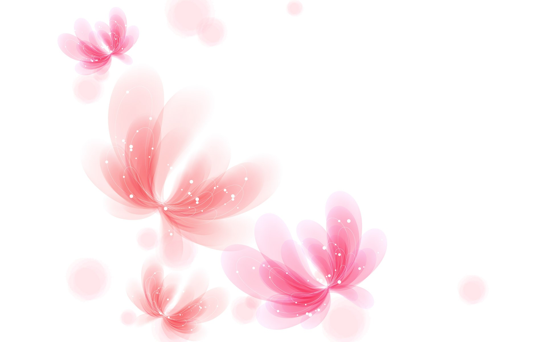 White And Pink Wallpaper
