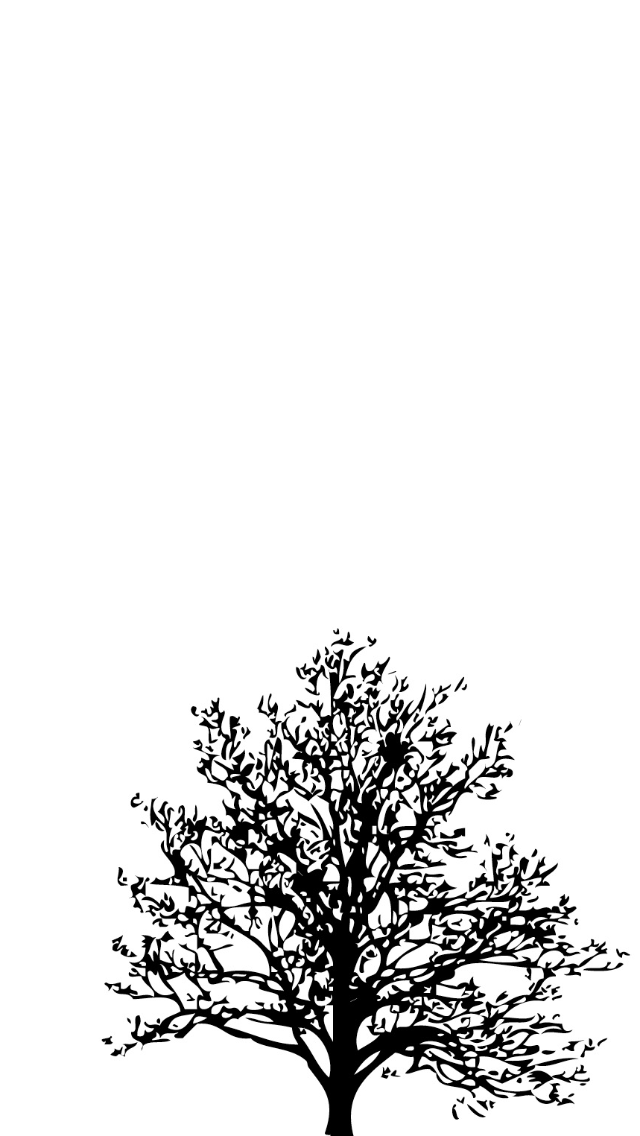 White Tree Wallpaper