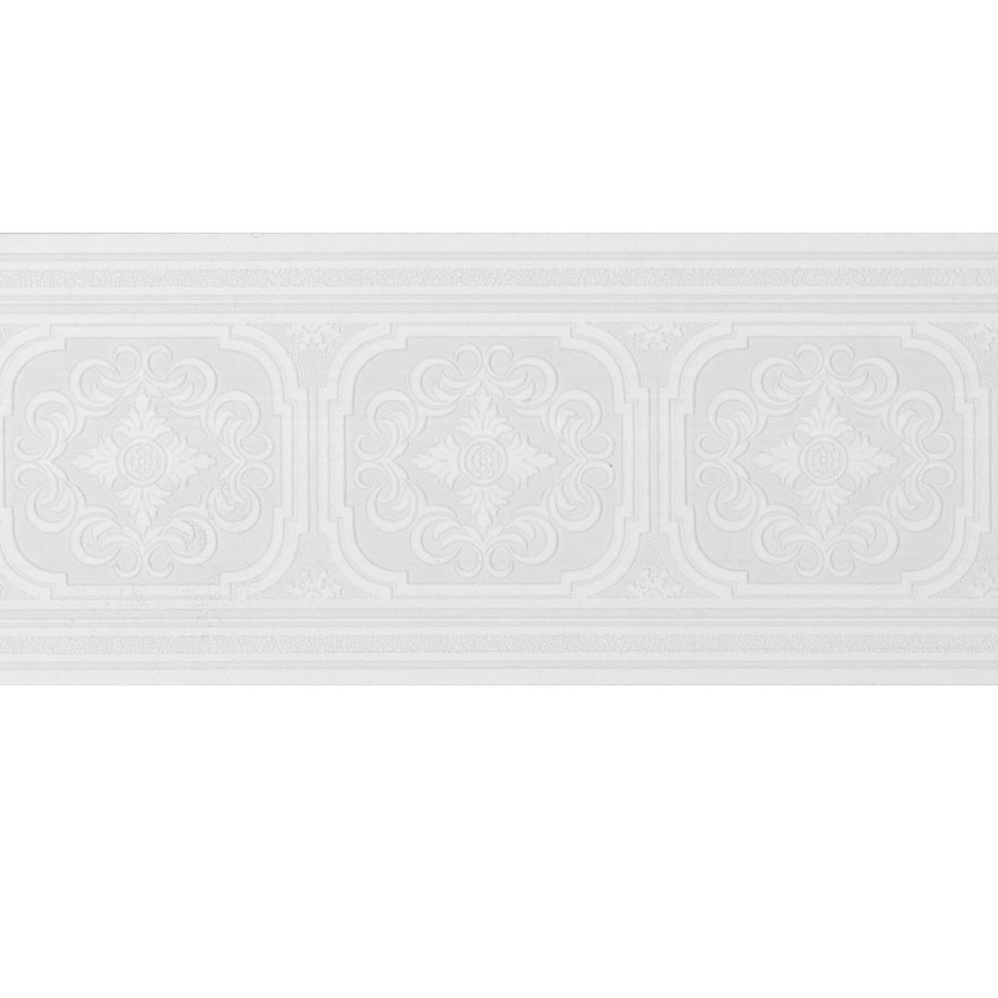 White Wallpaper Border