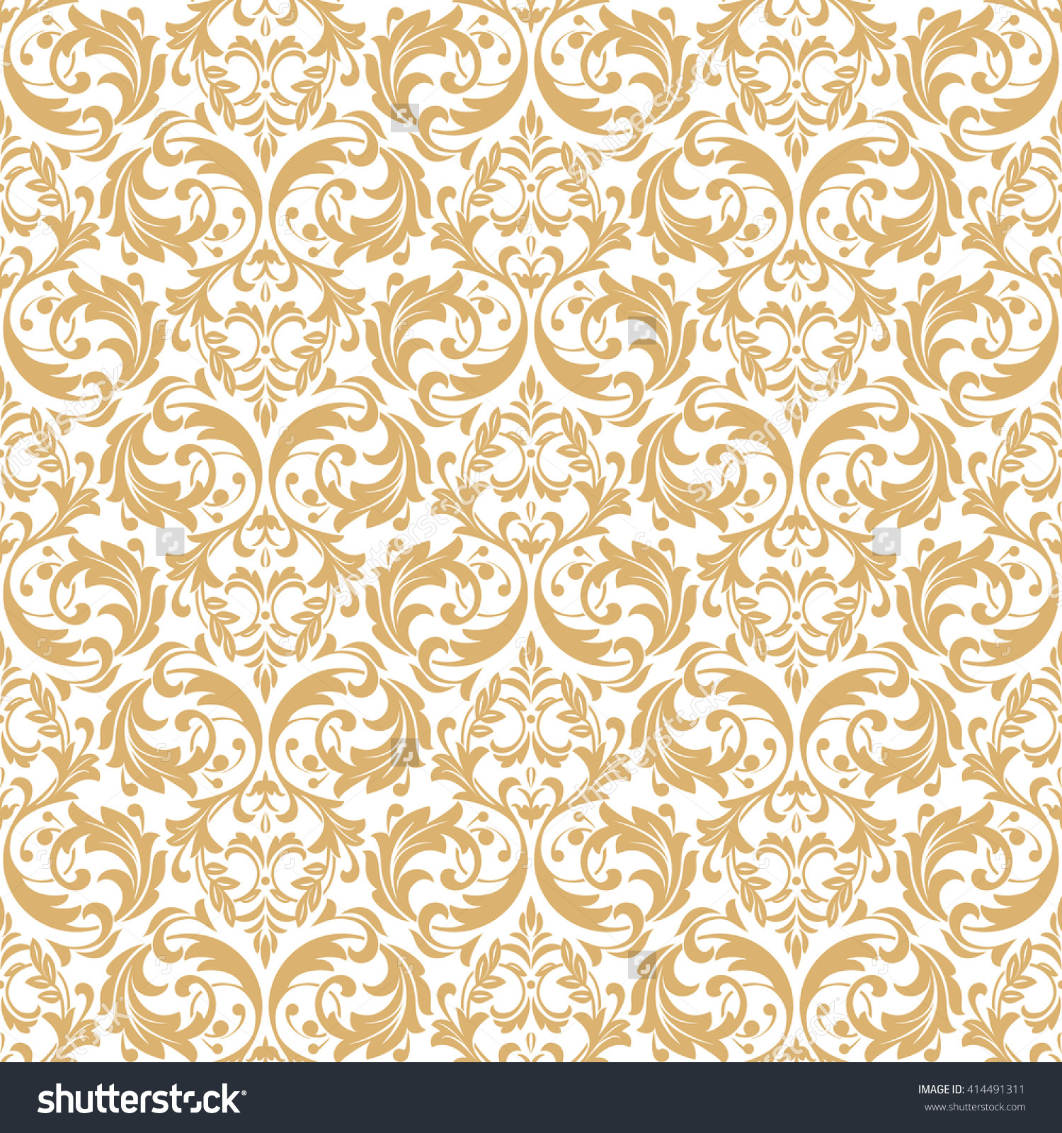 White And Gold Bedroom With Gray Bedding: Download White Wallpaper With Gold Pattern Gallery