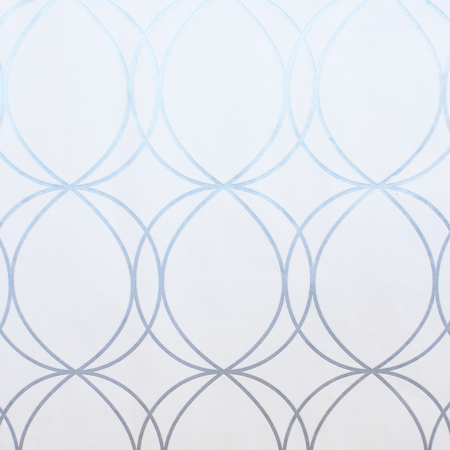 White Wallpaper With Silver Circles