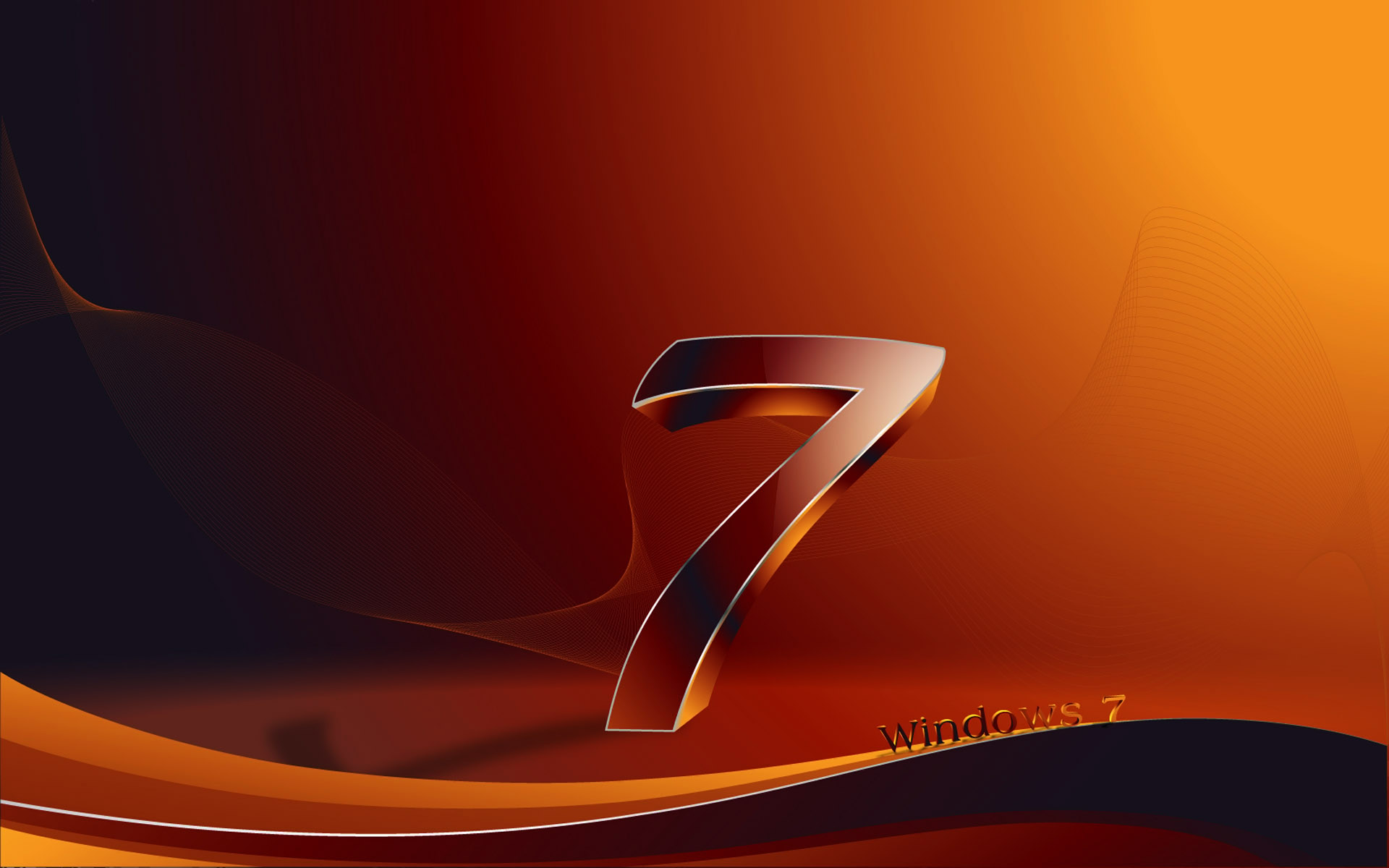 Windows 7 Wallpaper 3D