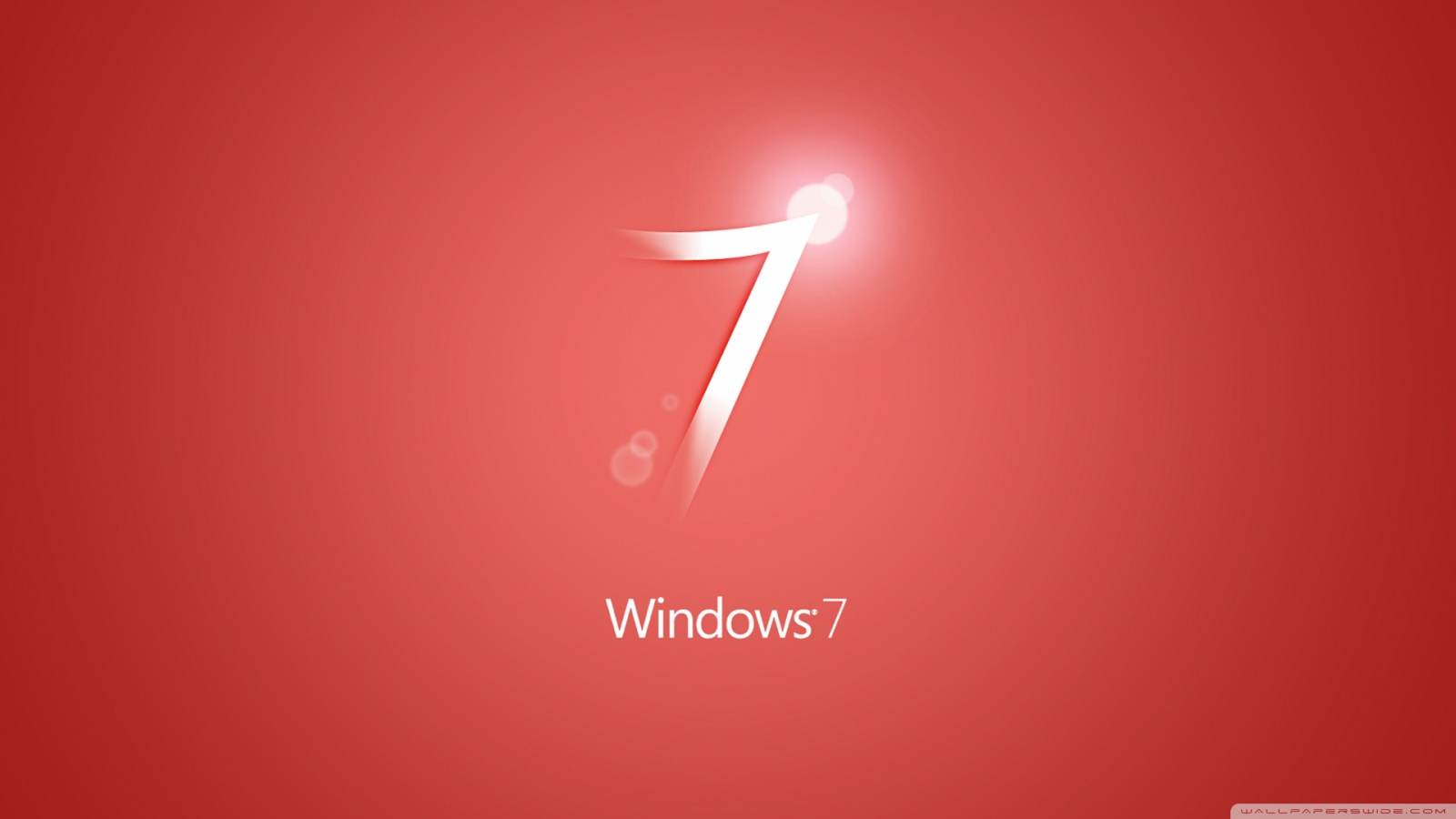 Windows 7 Wallpaper Red