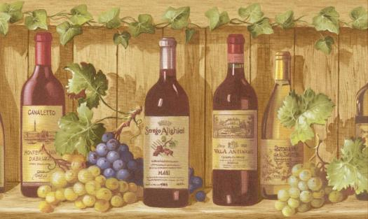 Download Wine Bottle Wallpaper Border Gallery