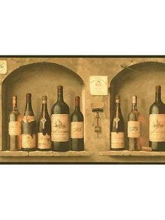 Wine Bottle Wallpaper Border