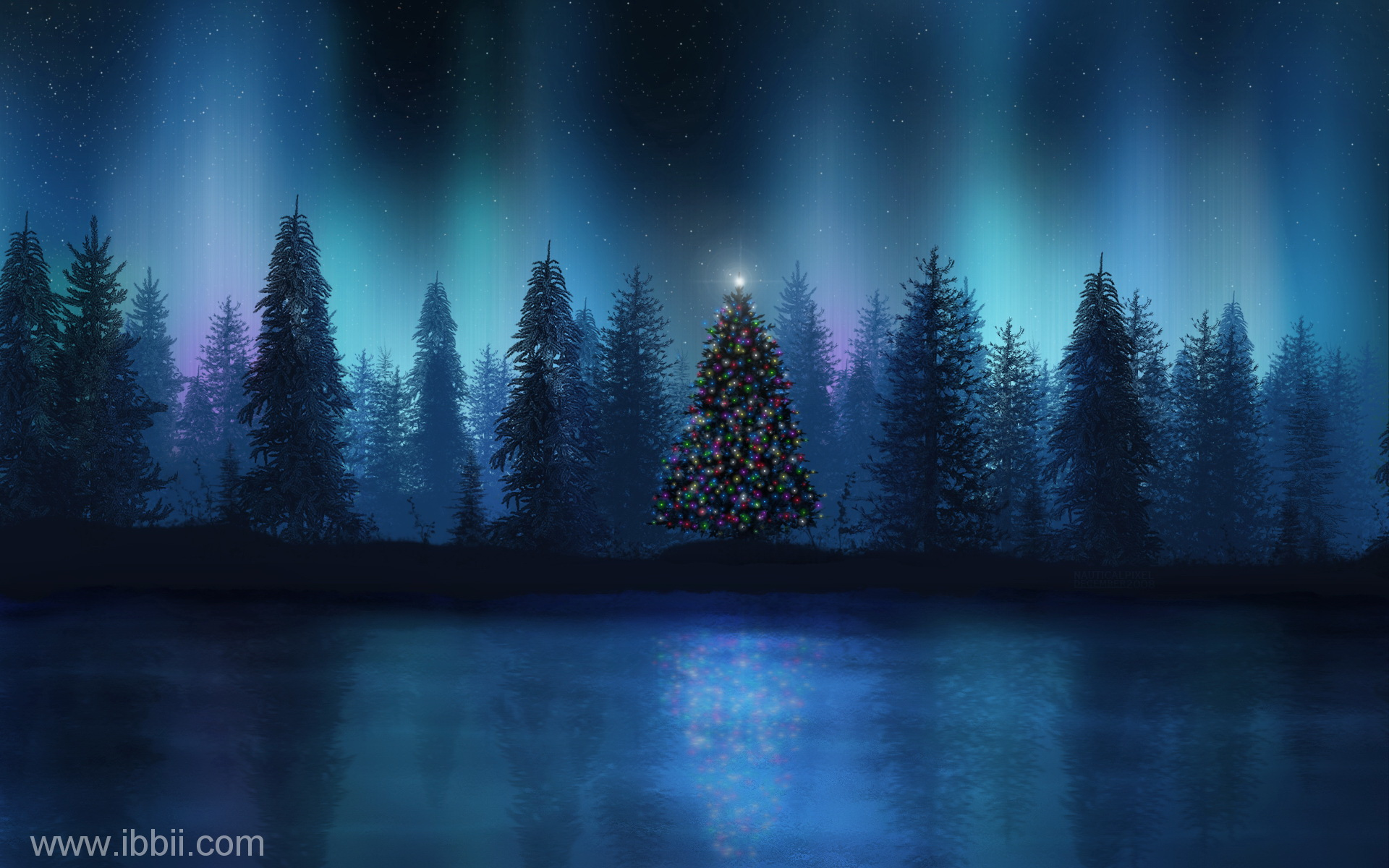 Winter Night Scenes Wallpaper