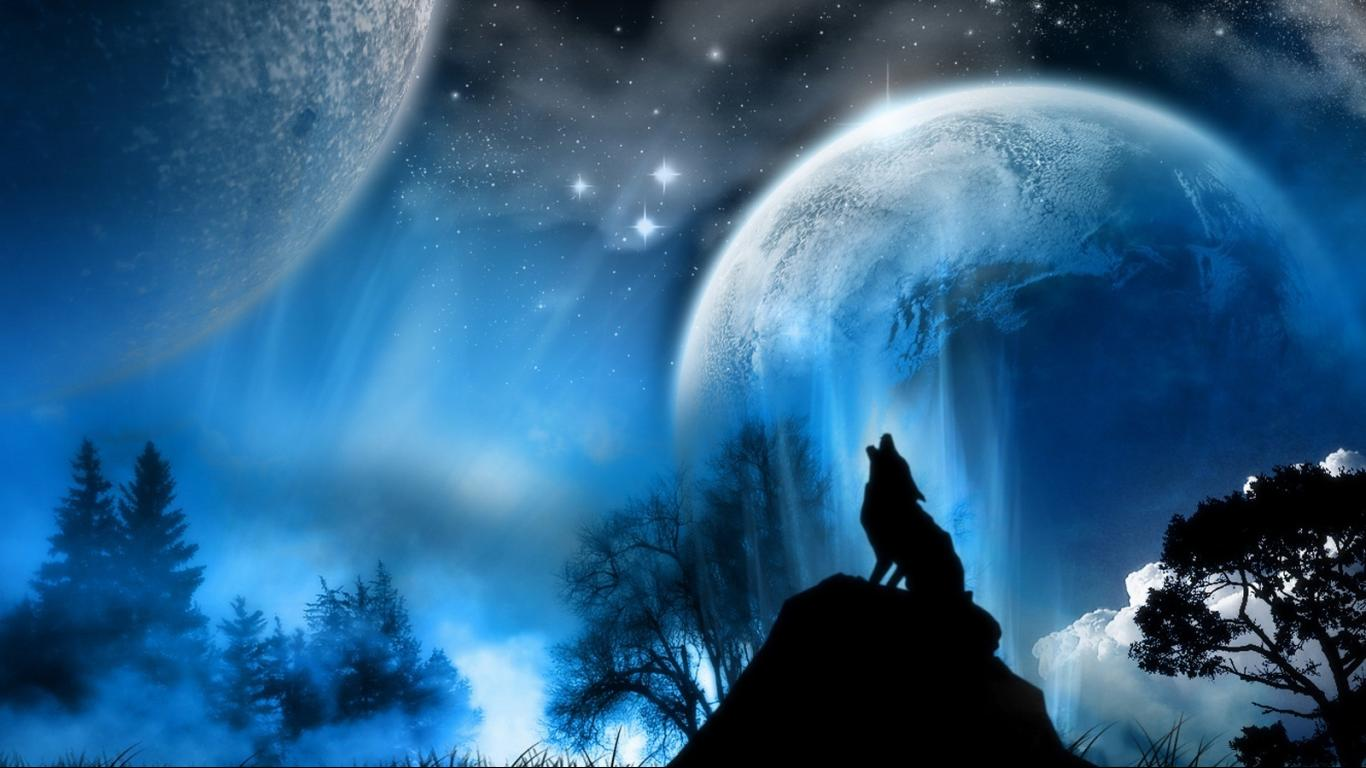 Wolf Moon Wallpaper
