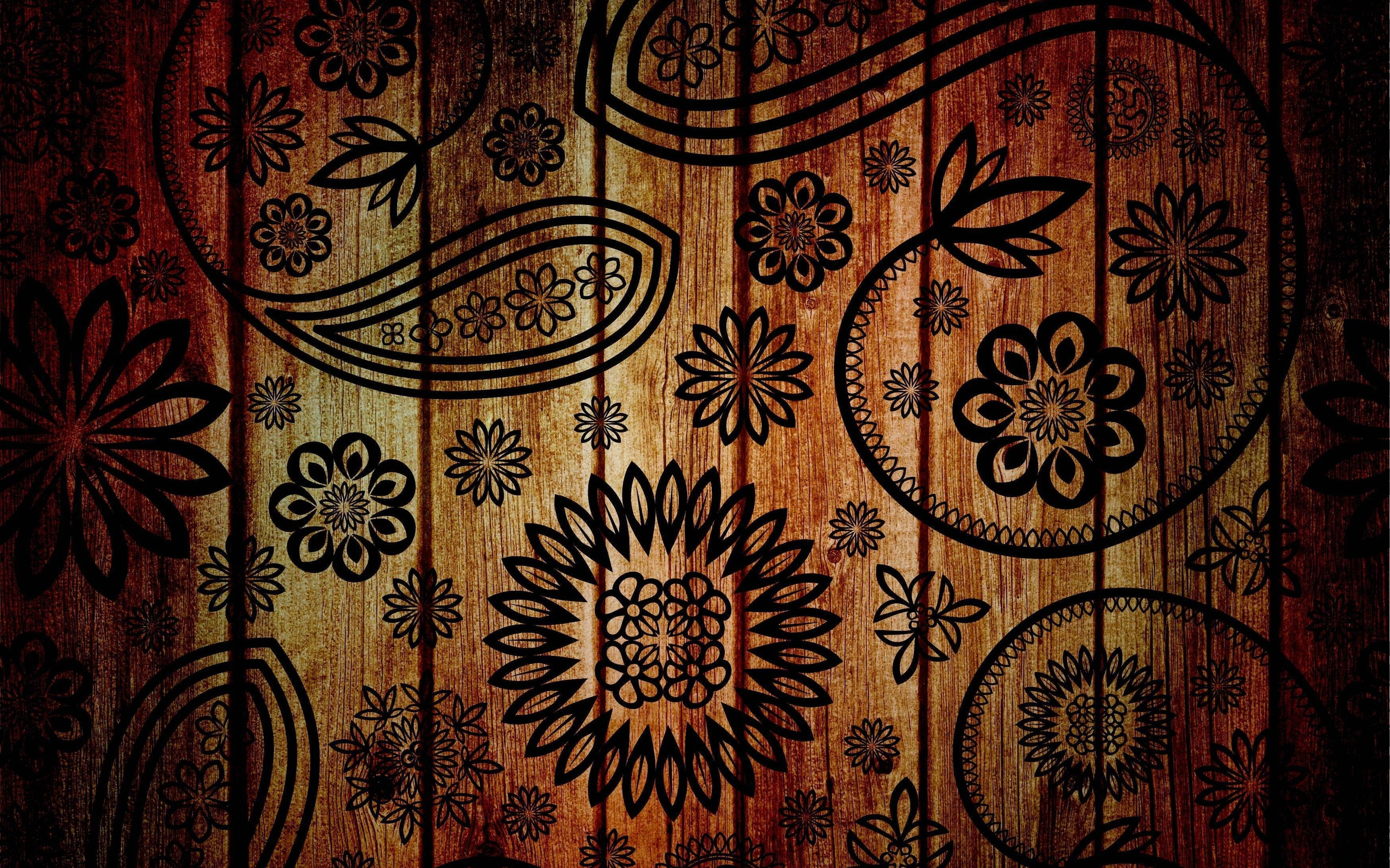 Wood Art Wallpaper