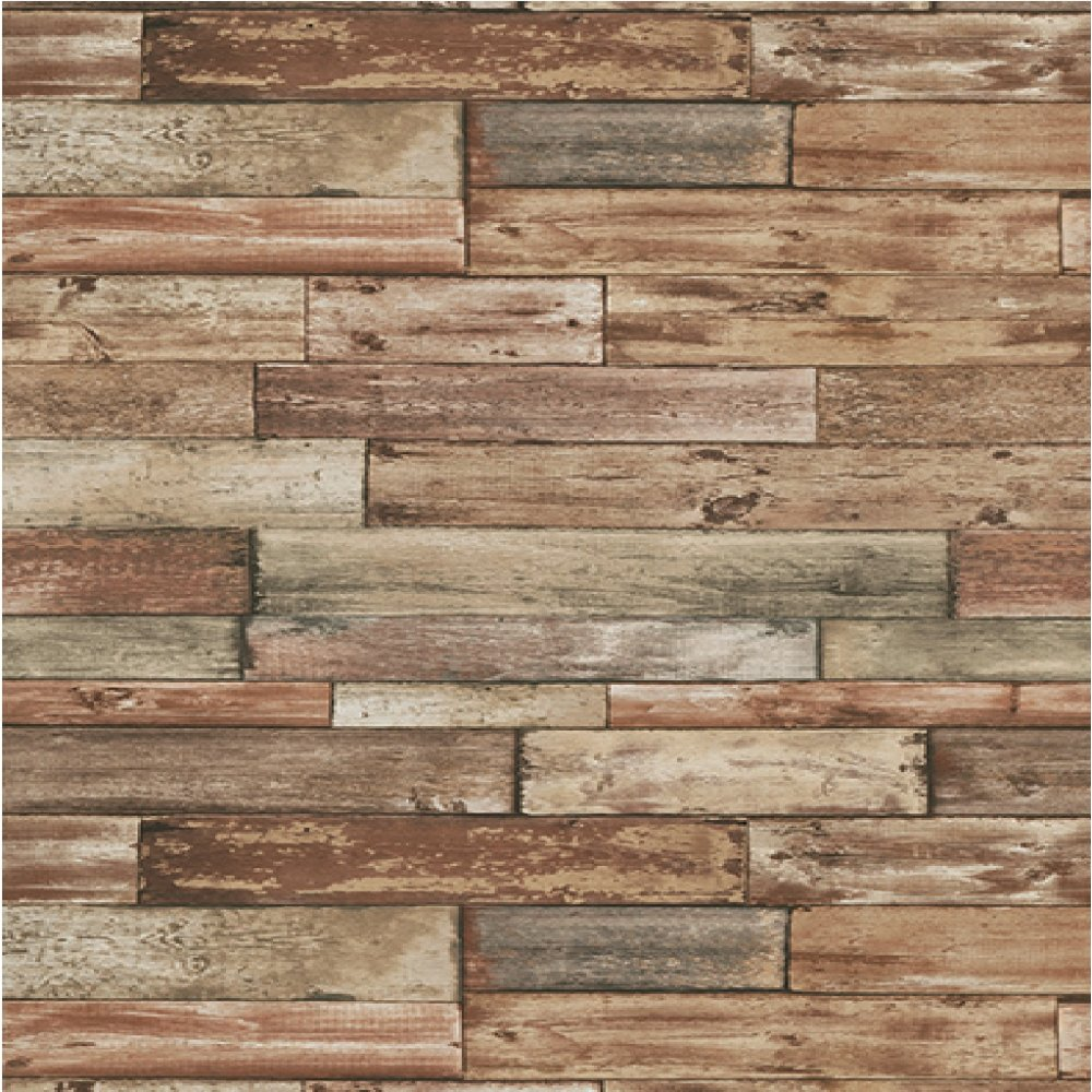 Wood Panel Effect Wallpaper