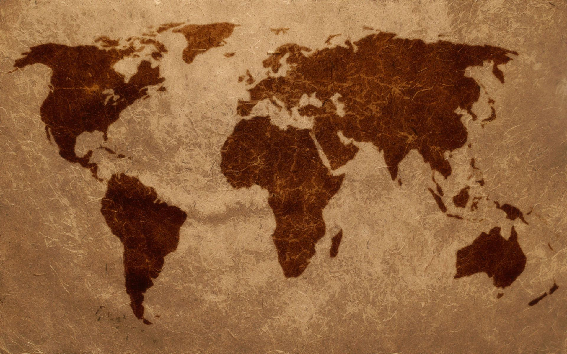 World Map Screen Wallpaper
