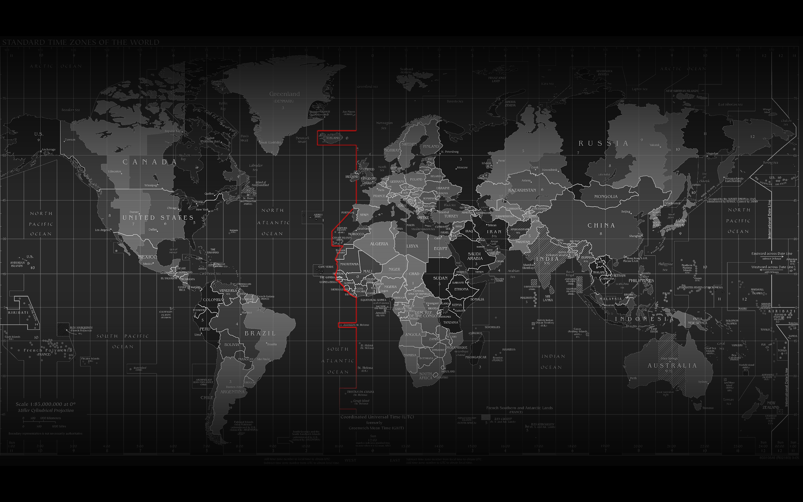 World Map Wallpaper Black And White