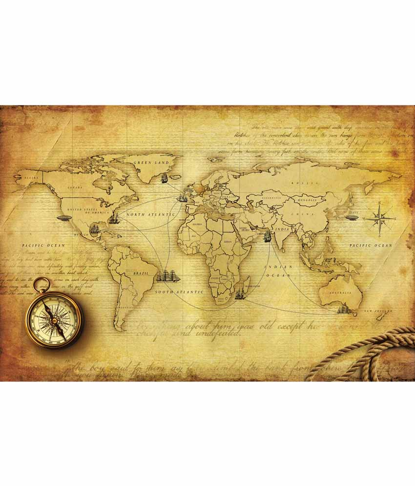 World Map Wallpaper India