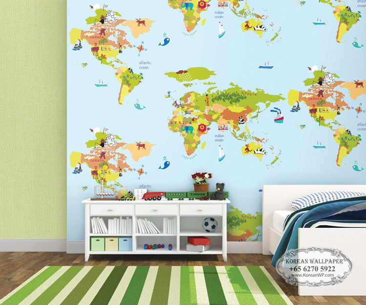Download World Map Wallpaper Kids Room Gallery