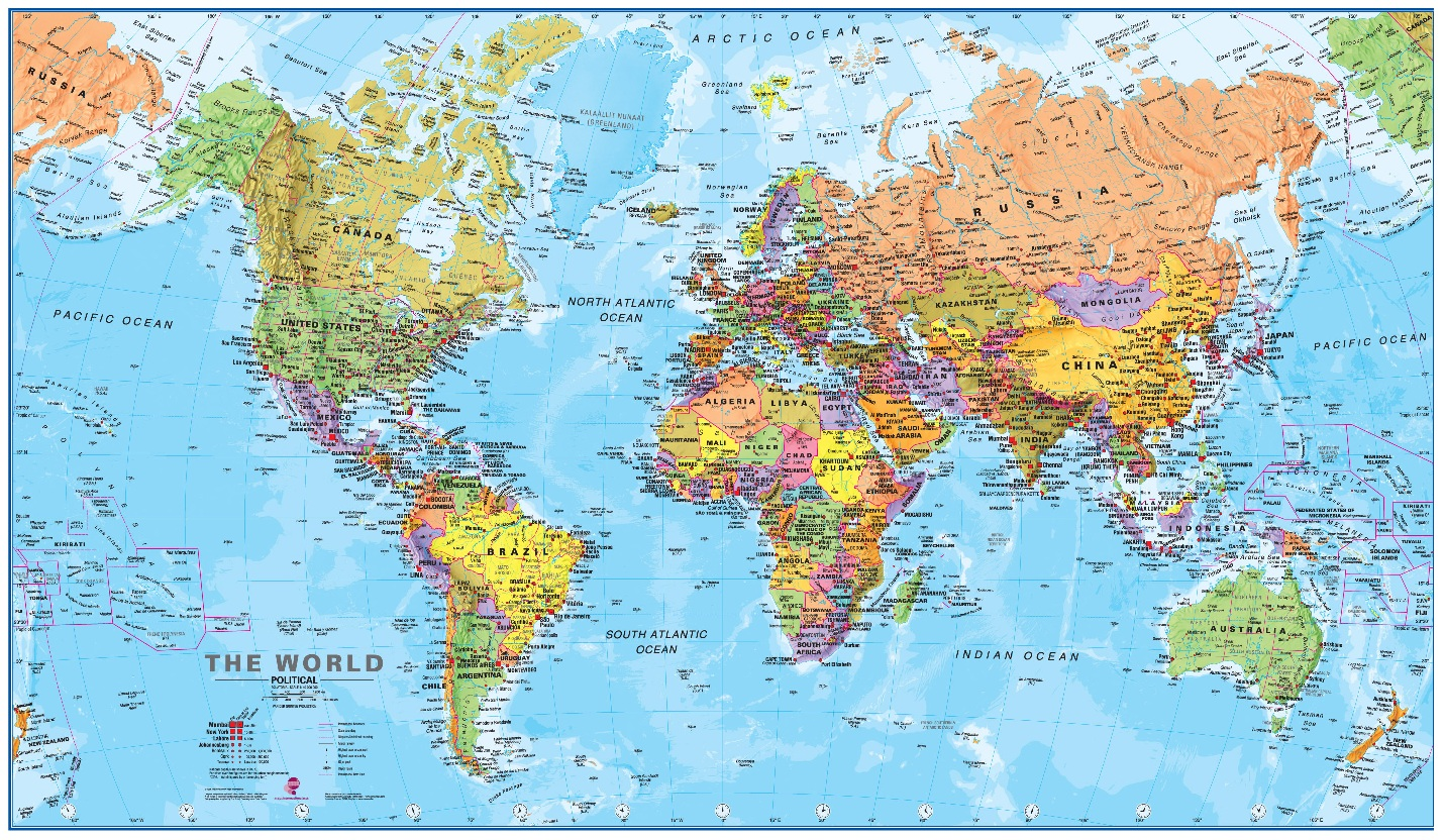 World Maps With Countries Wallpaper