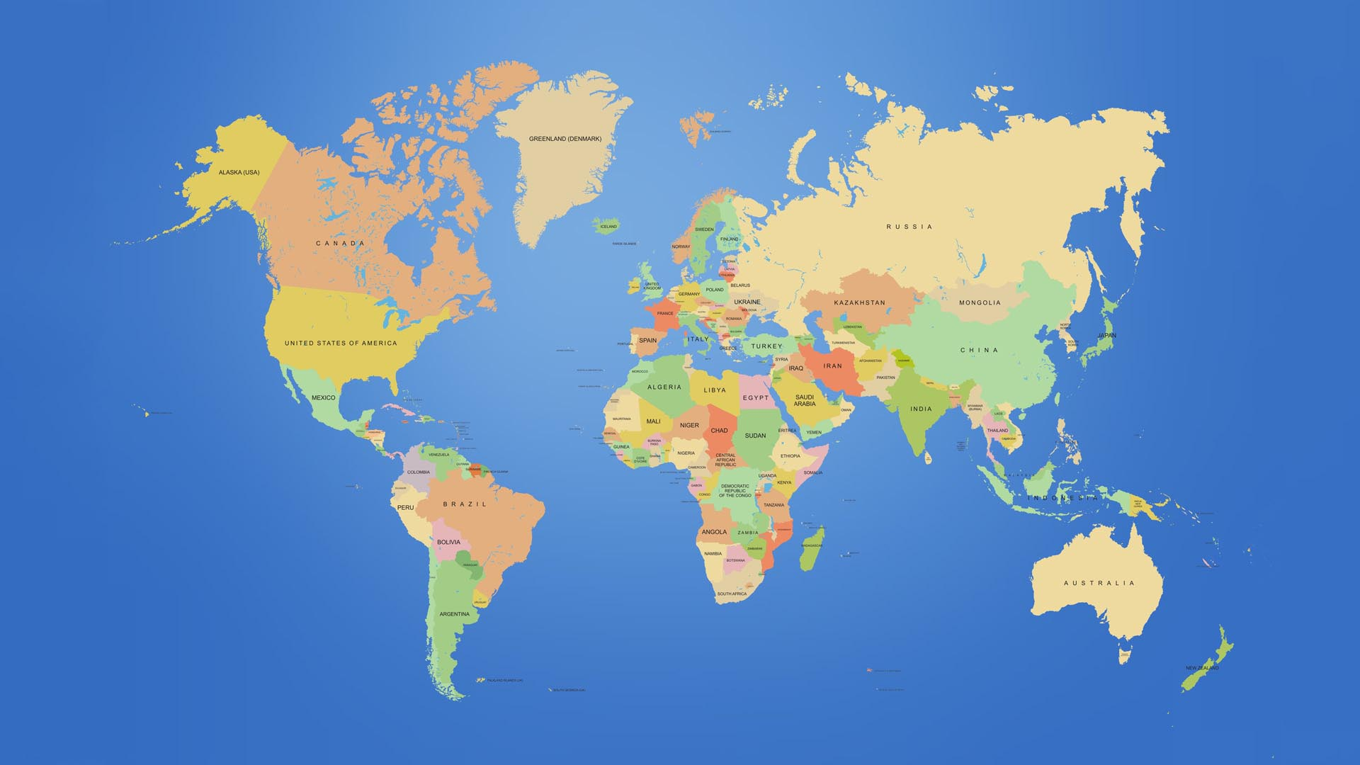 World Political Map HD Wallpaper
