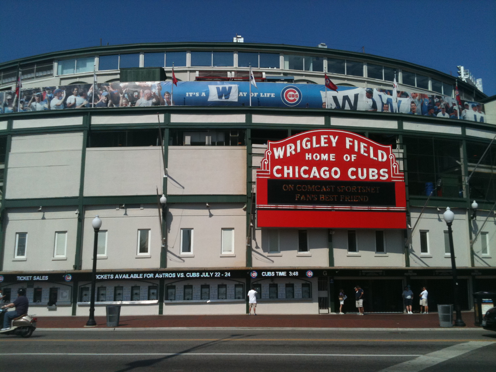 Wrigley Field Wallpaper Mural