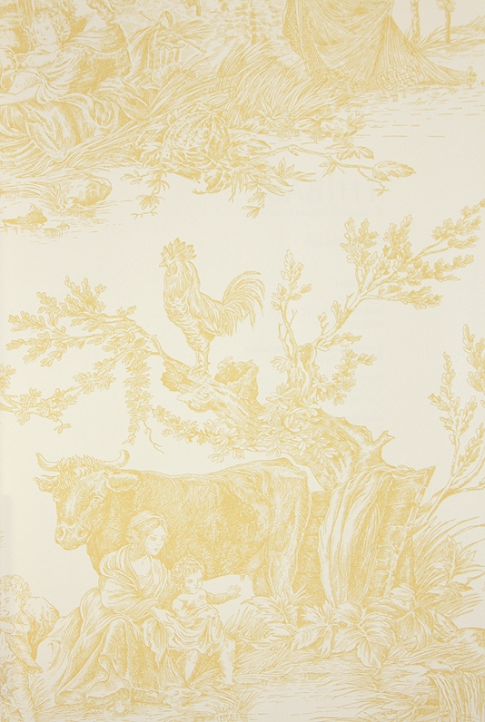 Download Yellow Toile Wallpaper Gallery