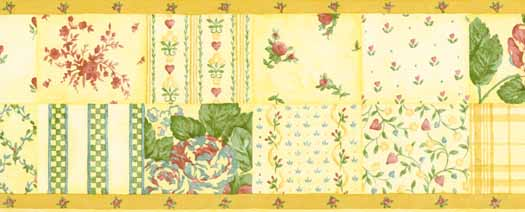 Yellow Wallpaper Border
