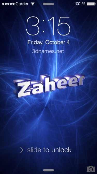 Zaheer Name Wallpaper