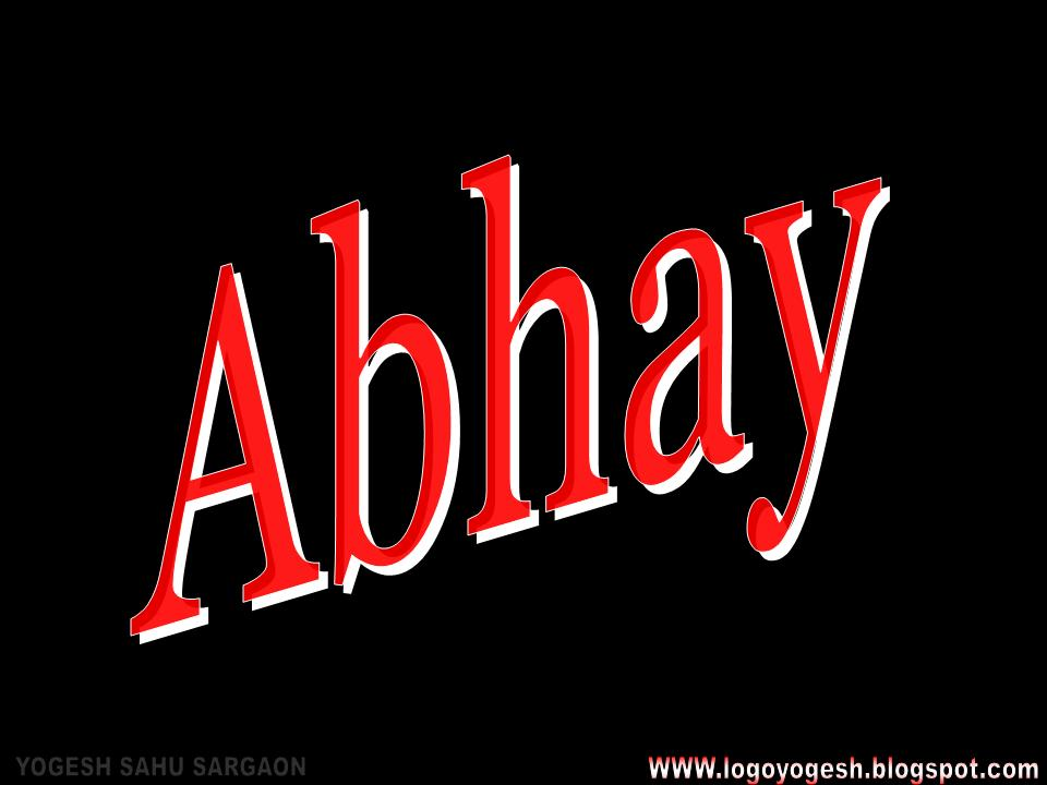 Abhay Name Wallpaper