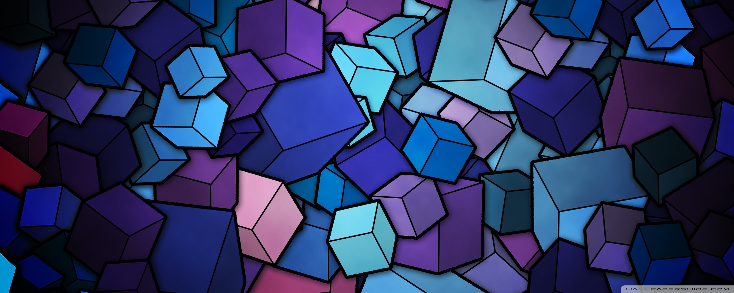 Blue Cube Wallpaper