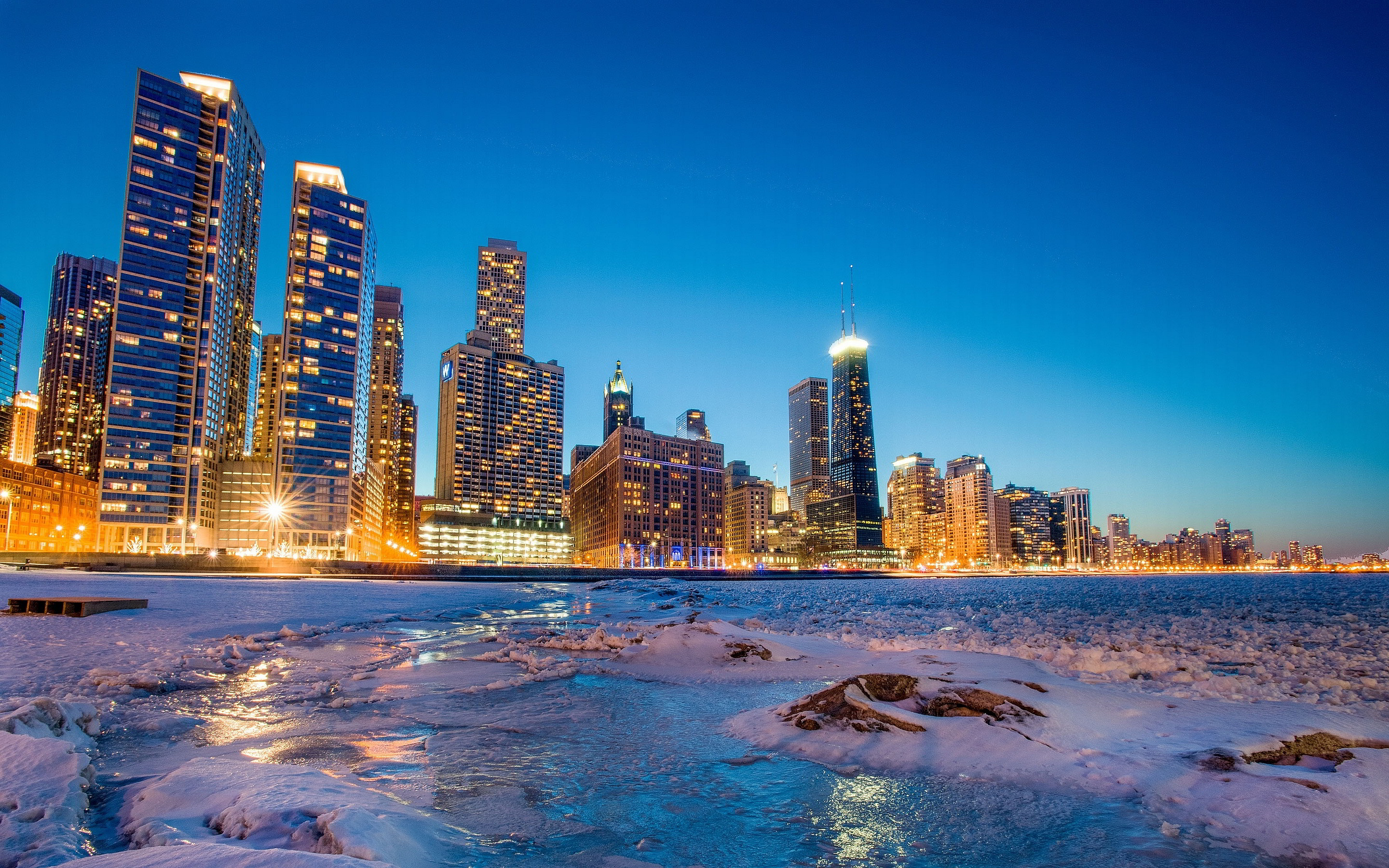 Chicago Winter Wallpaper