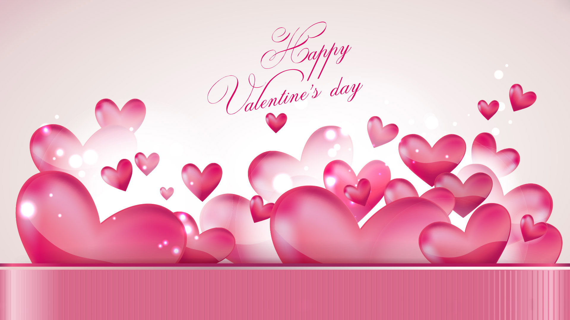 Happy Valentines Day Hearts Wallpaper