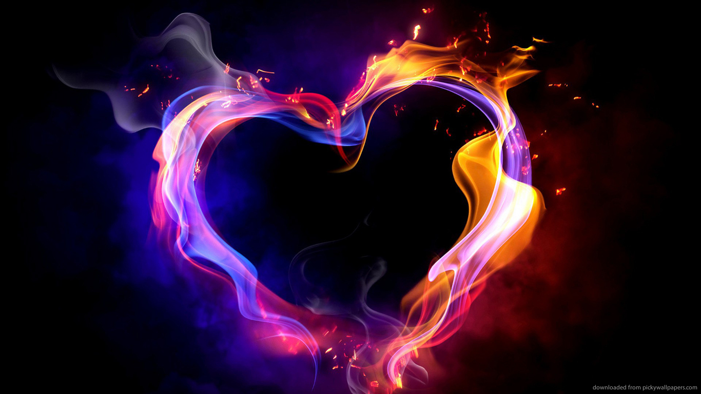 Heart Fire Wallpaper