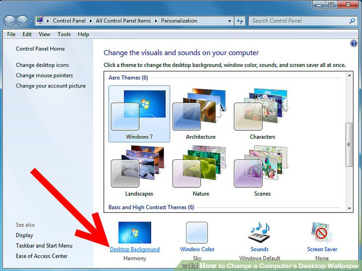 how to change your wallpaper on computer acer