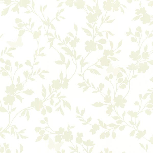 Light Green Floral Wallpaper