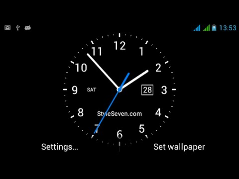 Live Wall Clock Wallpaper
