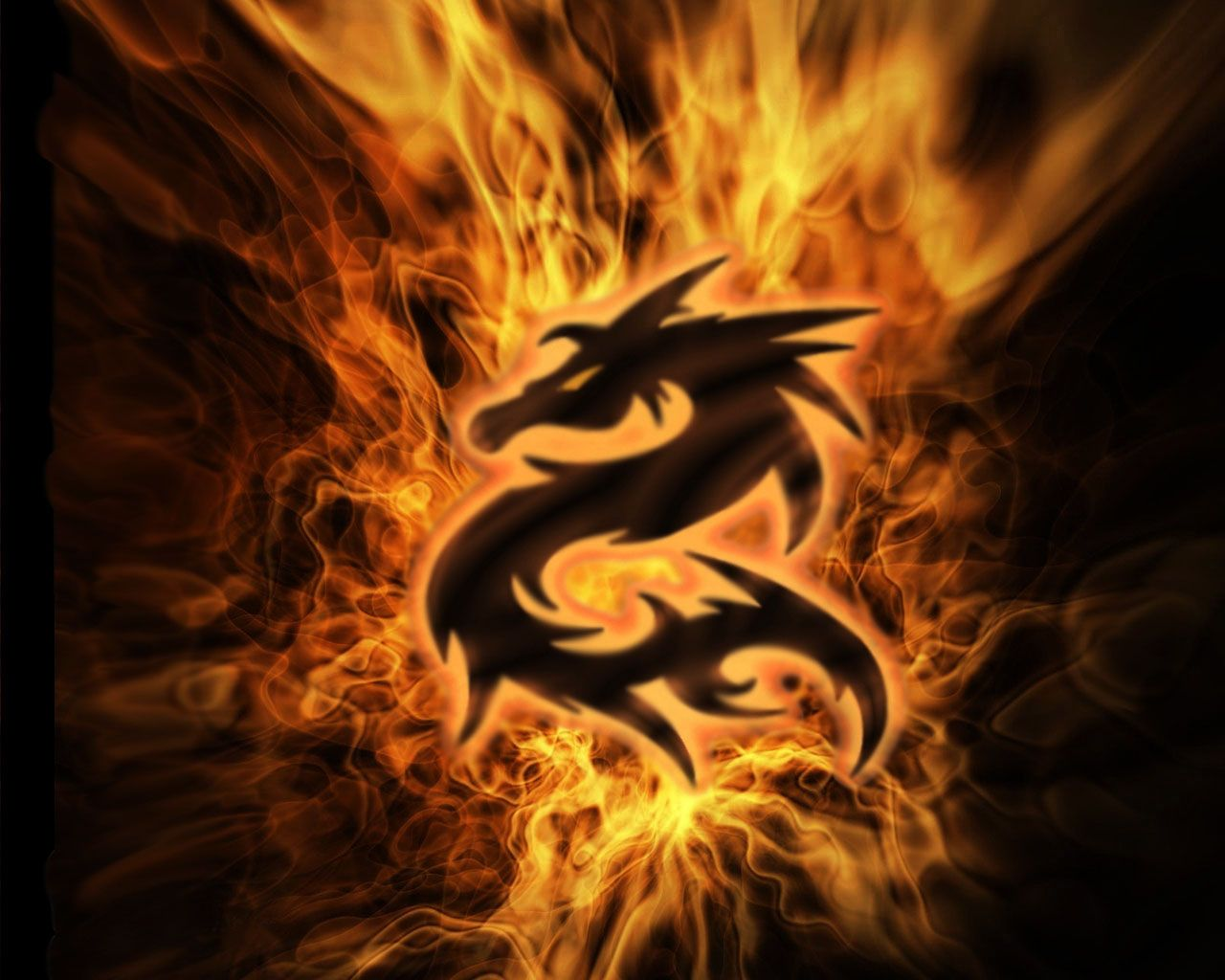 Orange Dragon Wallpaper