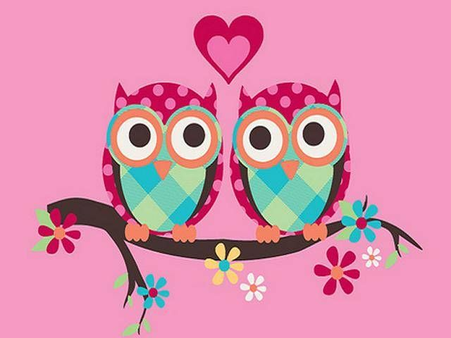Pink Owl Wallpaper