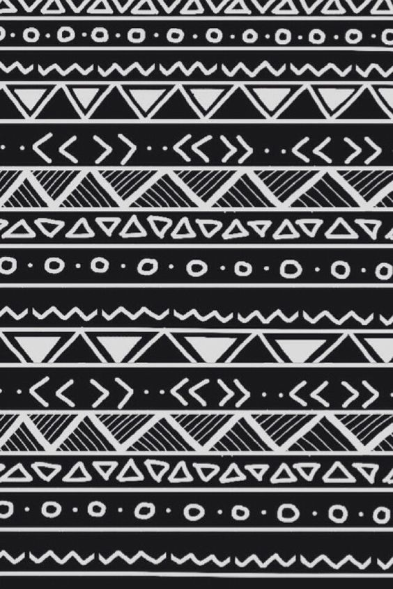 Tribal Wallpaper Black And White