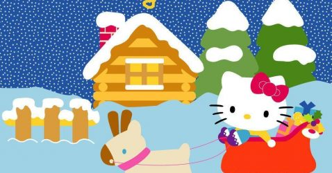 Free Hello Kitty Christmas Wallpapers