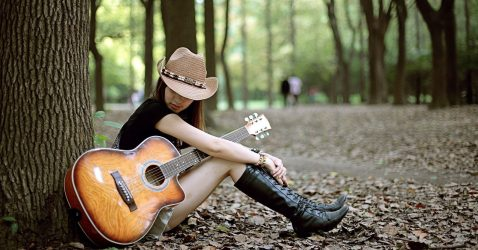 Girl With A Guitar Wallpapers