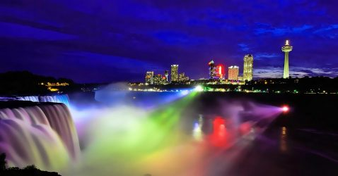 Niagara Falls At Night Wallpapers